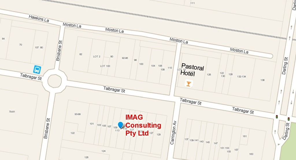 Click for full image of IMAG Dubbo office location map